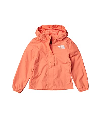 The North Face Kids Resolve Rain Jacket (Little Kids/Big Kids) (Miami Orange) Girl