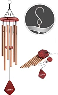 Famiry Wind Chimes for Outside Deep Tone, 32 Inch Sympathy Wind Chimes Outdoor Clearance, Memorial Wind Chimes with 6 Meta...