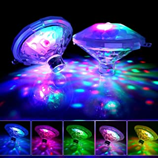 Pool Lights,Floating Led Lights Waterproof, Colorful Swimming Pool Lights Pond Lights Baby Bath Lights The Tub with Screw Driver for Pond, Aquarium, Party, Wedding, Home Decoration, Christmas(2-Pack)