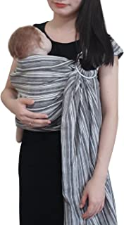 Vlokup Baby Sling Ring Sling Carrier Wrap | Extral Soft Lightweight Cotton Baby Slings for Infant, Toddler, Newborn and Ki...
