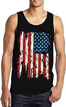 SpiritForged Apparel Vintage Distressed USA Flag Men's Tank Top