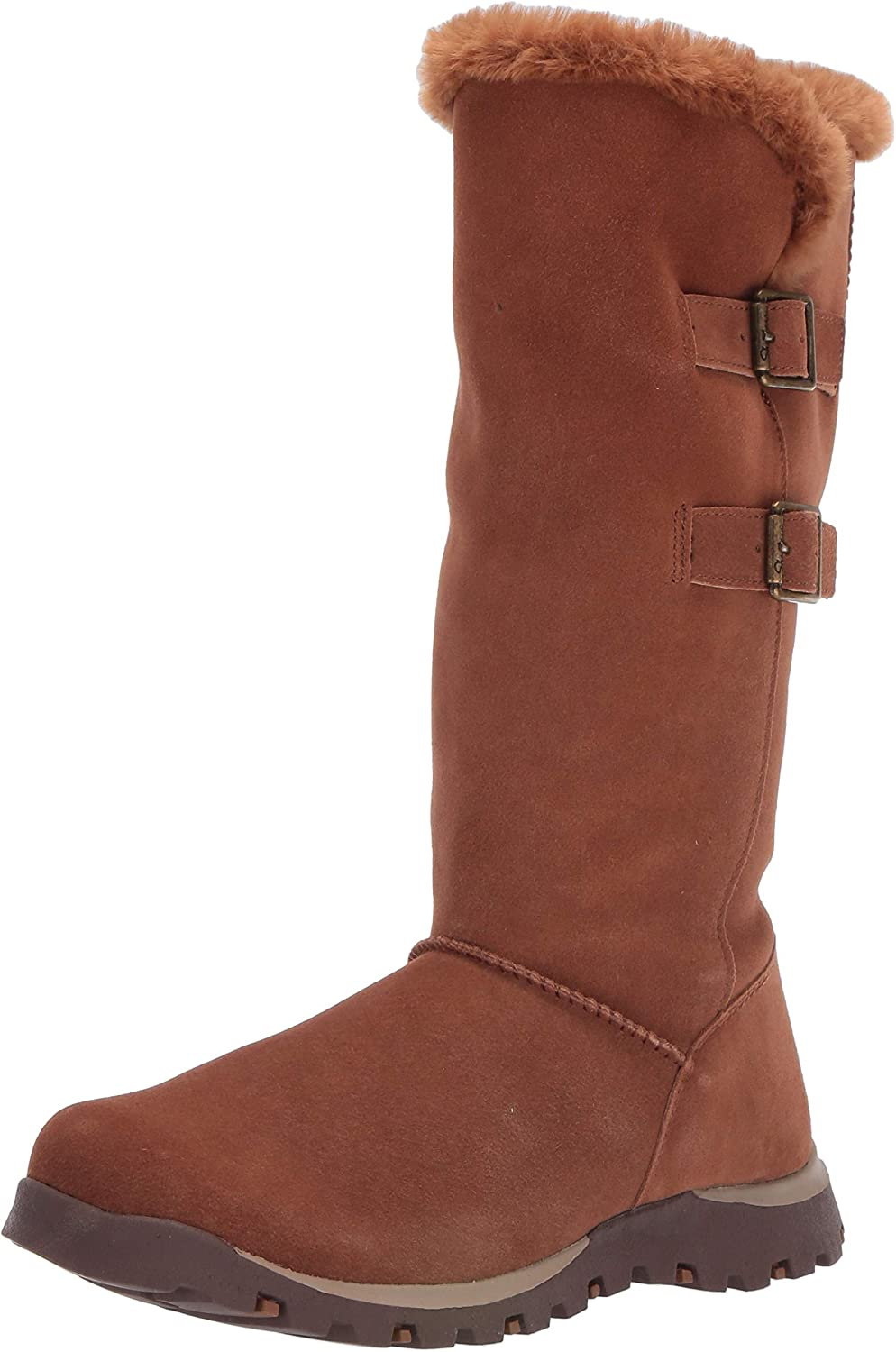 Skechers Women's Ultra-Cheap Deals Grand Indefinitely Jams-Tall Double Buckle Fu Boot with Faux