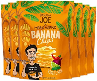 "Chips Thai Larb Flavor by Mark Wiens x Banana Joe, Gluten-Free Healthy Snacks for Adults & Kids – Vegan & Paleo Approved, - A ""Potato Chip"" That's Good For You (Made From 100% Real Bananas)"