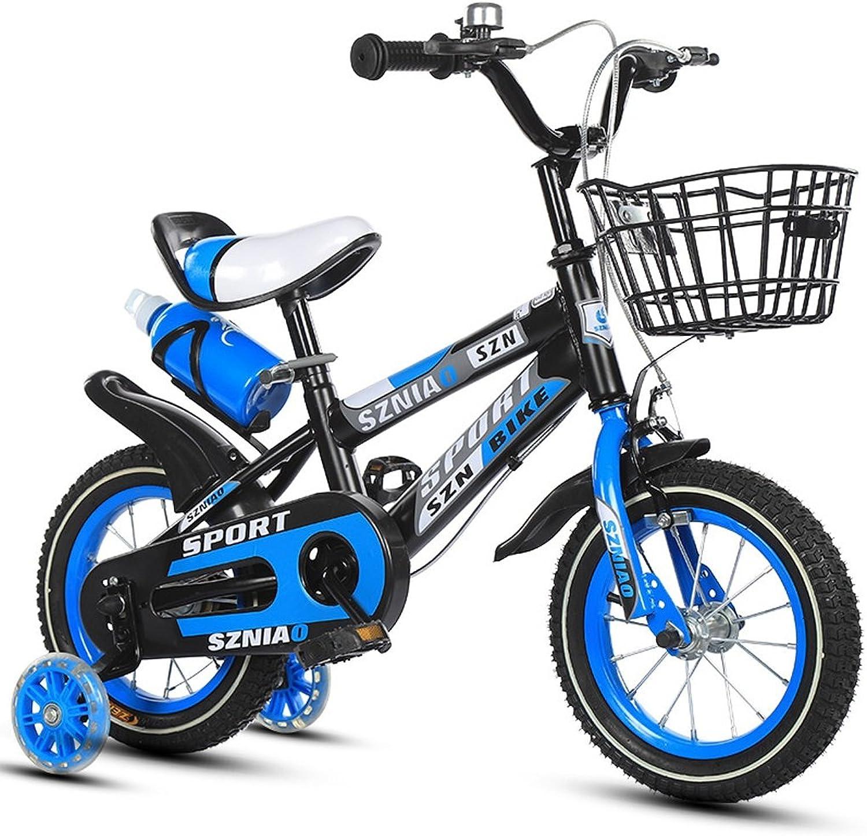 punto de venta XXHDYR Bicicletas para para para Niños Cochero de bebé de 18 Pulgadas para Hombres y Mujeres Marco de Acero con Alto Contenido de Cochebono para Bicicletas para Niños de 6-9 años de Edad, Naranja Azul Rojo  barato