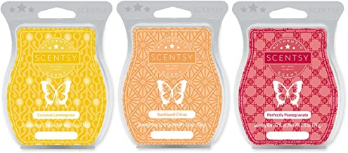 Scentsy Multi-pack - Coconut Lemongrass, Sunkissed Citrus, Perfectly Pomegranate