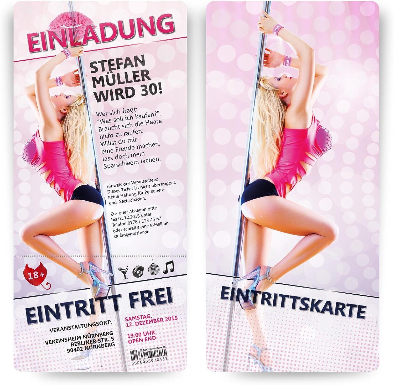 Einladungen Einladungen Einladungen (40 Stück) sexy Nachtclub Nachtleben Erotik Club pole dance Einladungskarten B0130LHJQ8 | Elegante Und Stabile Verpackung  4176d5