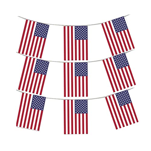 Party Banner Bunting USA American Flag Vintage 4th July Personalised Birthday