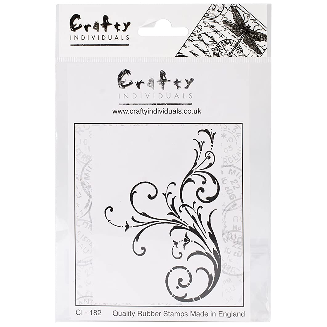 Crafty Individuals CI-182 Unmounted Rubber Stamp, Large Elegant Swirl