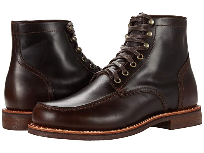 1920s Style Mens Shoes | Peaky Blinders Boots Georgia Boot Small Batch 6 Moc Toe Stacked Heel $160.99 AT vintagedancer.com