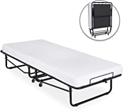 Best Choice Products Twin Folding Rollaway Cot-Sized Mattress Guest Bed w/ 3in Memory..