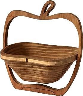RaanPahMuang Fair Trade Bamboo Wood Collapsible Fruit Serving Basket