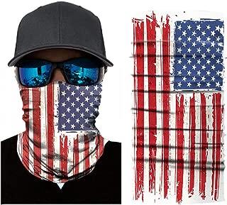 American Flag Face Shield for Men Women, Multipurpose as Neck Gaiter, Headwear, Face Sun Mask, Magic Scarf, Bandana, Headband for Motorcycle Cycling Fishing Skiing (Normal Flag)