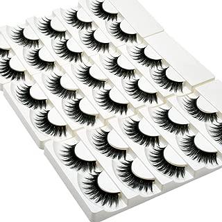 Wleec Beauty False Eyelash Pack Thick Eyelashes Handmade Strip Lashes #69 (15 Pairs/3 Pack)