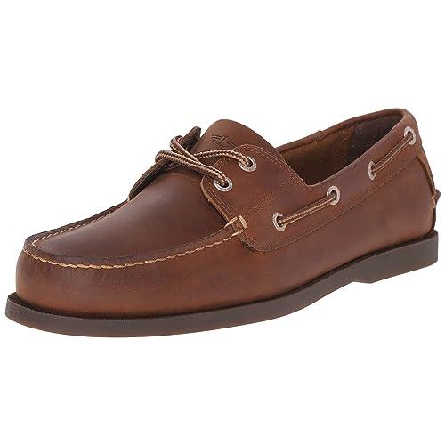 a4cb1387e02 Dockers Men s Vargas Leather Handsewn Boat Shoe