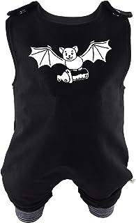 Eve Couture Babykleidung Baby Strampler Die Milchvampir-Bande - Nala, die kleine Milchvampirin Unisex Rockabilly Rock´n Roll Gothic schwarz