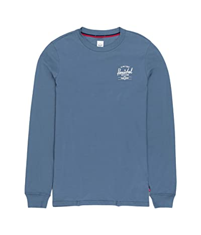 Herschel Supply Co. Sleeve Print Long Sleeve Tee (Classic Logo Blue Mirage/White) Men