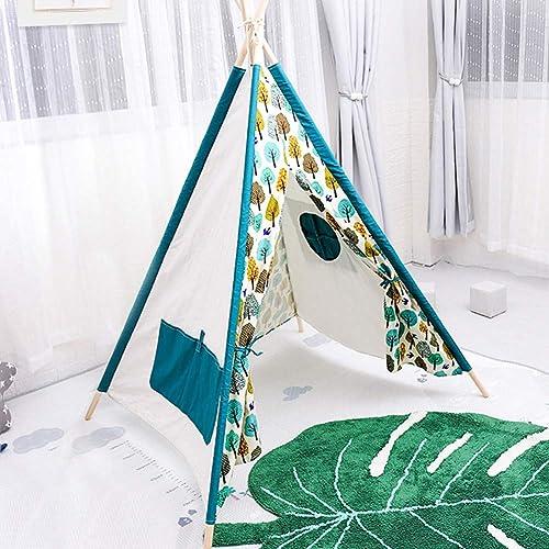 SSLW Spielzelt für Kinder Indian Tree Indoor-Spielhaus Baby Geburtstagsgeschenk Erziehung Spielzeug (Weiß)