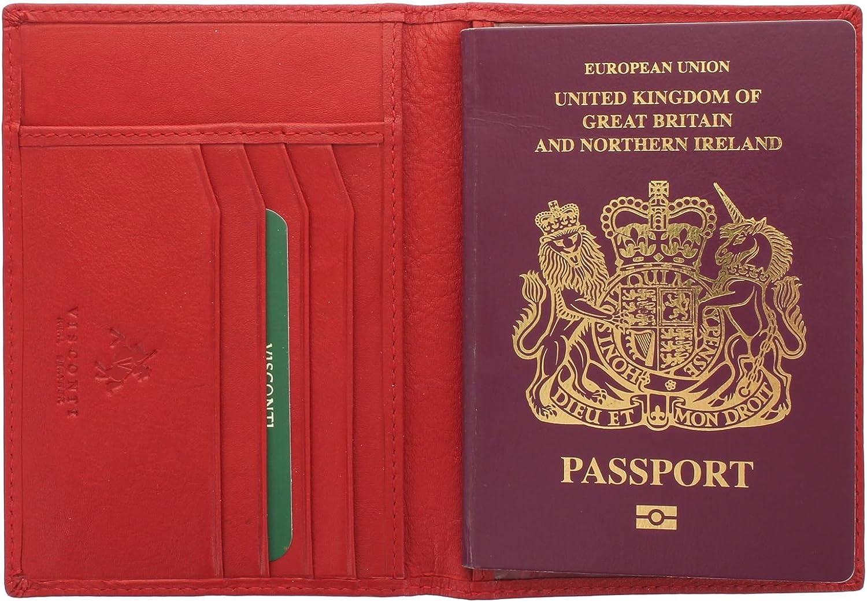 Visconti Colección Polo Porta Pasaporte de Cuero Bloqueo RFID 2201 Fuschia: Amazon.es: Equipaje