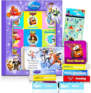 """Disney Pixar Board Books Set for Toddlers Babies Kids - Pack of 9""""My First"""" Books with Stickers (ABCs, 123s, Colors, Frien..."""