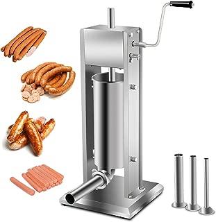 Super Deal Heavy Duty 5L Vertical Sausage Stuffer,11LB Two Speed Stainless Steel Meat Mince Maker w/ 4 Stuffing Tubes, Meat Grinder, Restaurant Meat Pork Filler(Sausage Filler 5L)