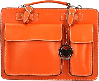 Chicca Borse Bag Cartella Portadocumenti Media in Pelle Made in Italy 34x24x12 cm