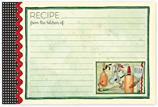 """Brownlow Gifts 4"""" x 6"""" Lined Recipe Cards, Cook With Love, 36-Count"""