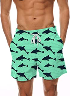 AIDEAONE Mens Swim Trunks Quick Dry Beach Board Shorts Waterproof Swim Shorts Bathing Suits with Mesh Lining/Pockets