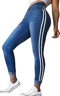 42001ff5cdb6c Lisli Womens Juniors Skinny Jeans Stretch Slim Fit Stripe Side Cotton Denim  Leggings Pants
