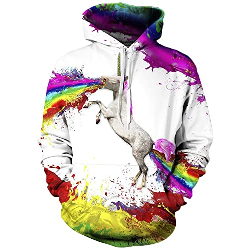 1aa928f66bf2 TUONROAD 3D Printed Unisex Graphic Hoodies Cool Realistic Pullover Athletic Hooded  Sweatshirts