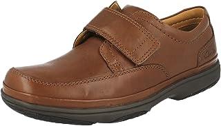 Clarks Men's Slip-On Velcro Shoes Swift Turn Brown