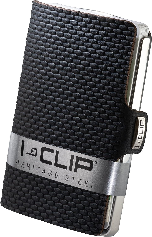I-CLIP Heritage Steel Polished Milanaise Black, Cartera, Billetera, Monedero