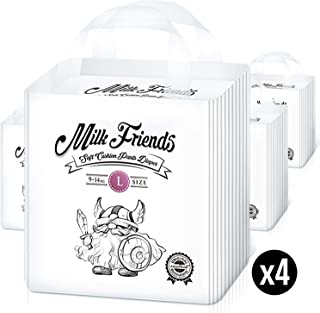 Milk Friends - Disposable Hypoallergenic Easy Pull Up Pants (Size 4,  Count 96)