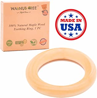 Made in USA - Organic Maple Wood Teether Ring 3