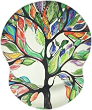 Ergonomic Mouse Pad with Gel Wrist Rest Support Life Tree Design Non-Slip PU Base Mouse Pads for Gaming Woking at Home or ...