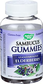 Nature's Way Sambucus Elderberry Gummies, 60 gummies, Pack of 2