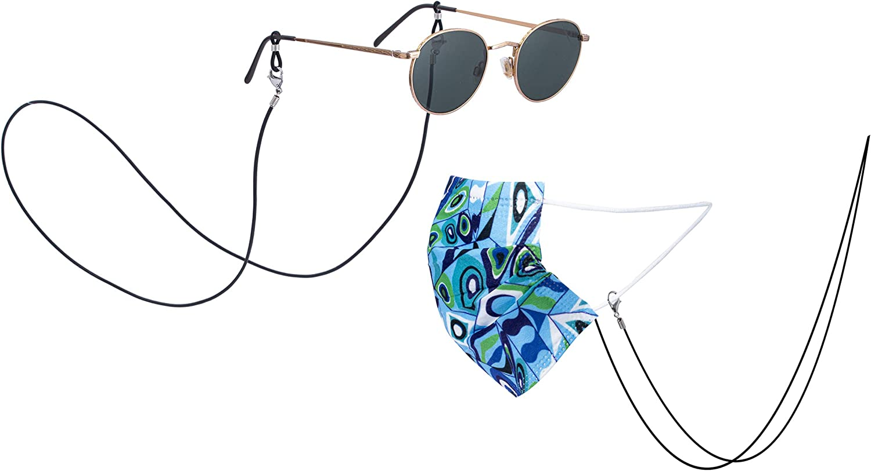 Generic New Black Women's Fashion Leather Eyeglass Chain Sunglas