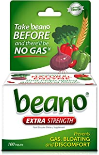 Beano Food Enzyme Dietary Supplement Tablets, 100 Tabs (Pack of 1)