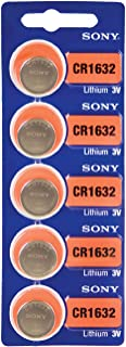 Sony CR1632 3 Volt Lithium Coin Cell Battery (5 Batteries)