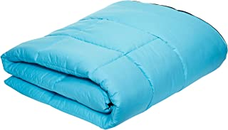 iBed Home Comforter Set, Black/Aqua, Single - 160x220 cm, 2BLCKAQUA-SNGL, 4 Pieces