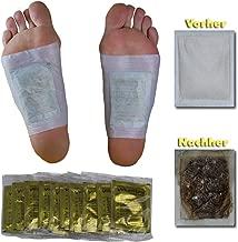 100 x Vita Patchy® cerotto per i piedi Vital Gold con alto contenuto di turmalina per la cerotti da piede cerotti di bambù foot patch