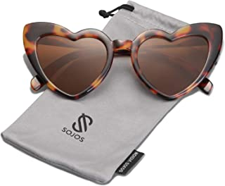 SOJOS Heart Shaped Sunglasses Clout Goggle Vintage Cat...