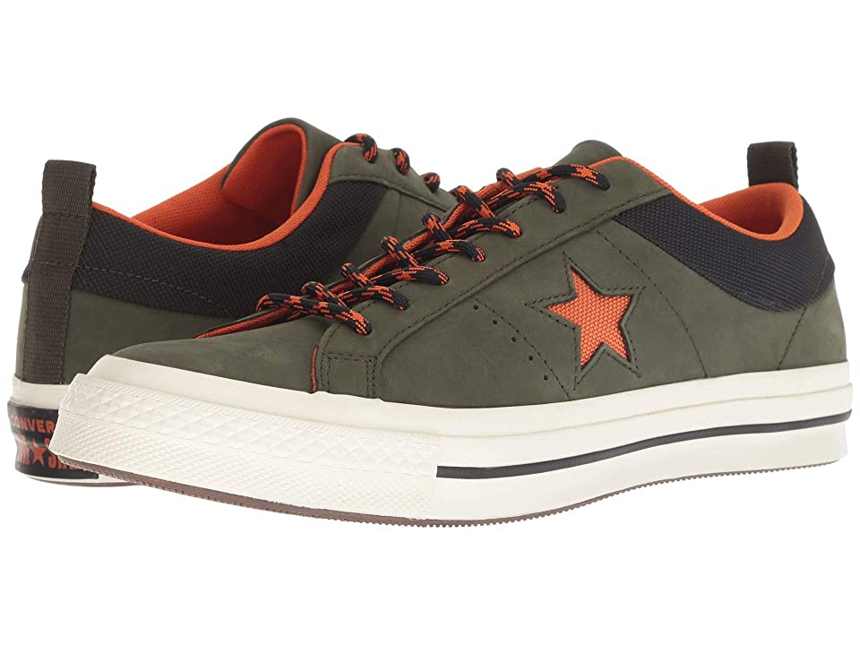 Converse One Star Ox (Utility Green/Campfire Orange/Black) Men