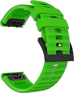 ساعة Sillicone Band for Garmin Fenix 6,6 Pro,Fenix 5,5 Plus,Forerunner 935,Forerunner 945,Approach s60 and Instinct