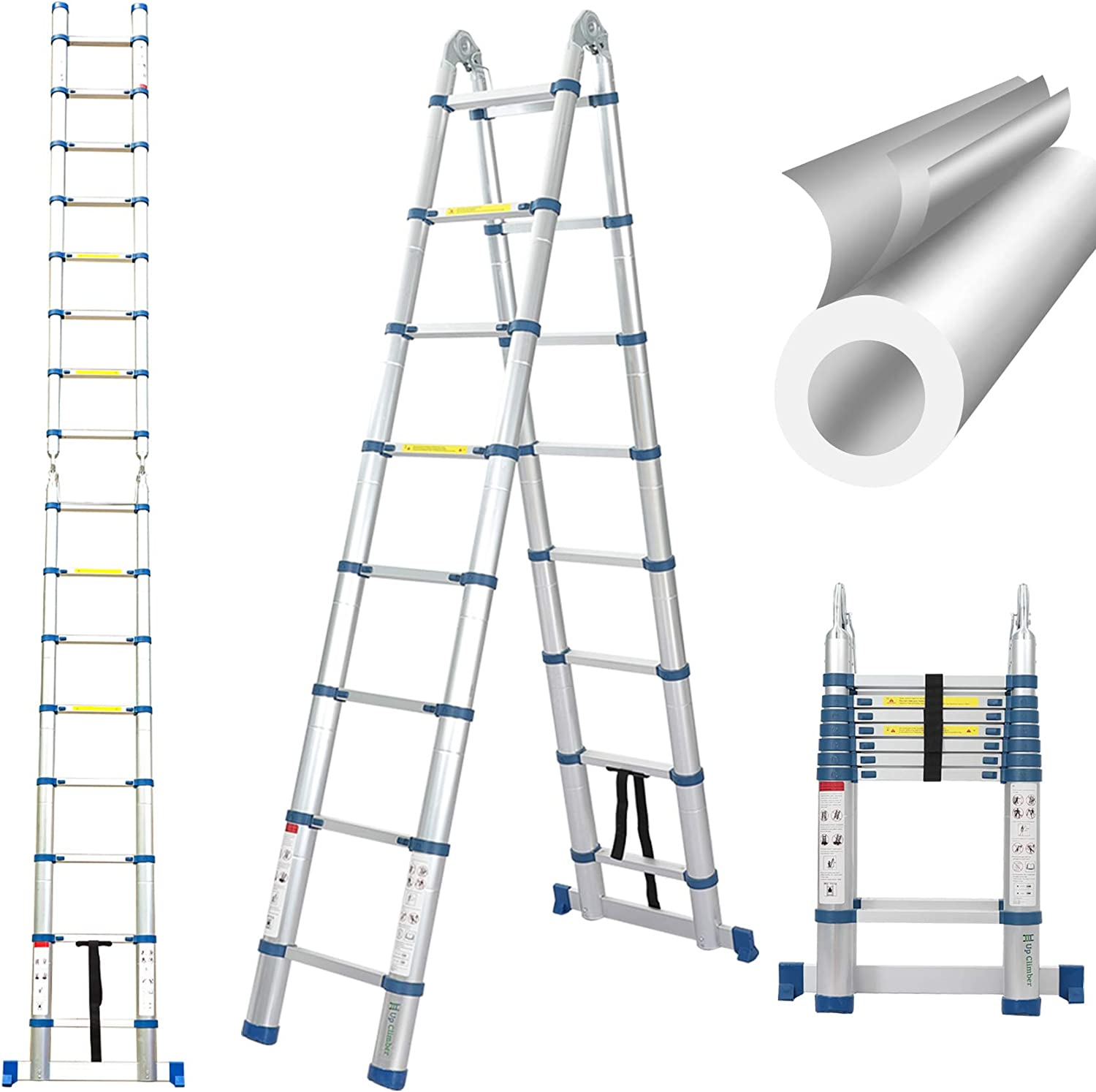 16.5 Ft Telescoping Max 45% Max 83% OFF OFF Ladder Portable Extension F A-Frame