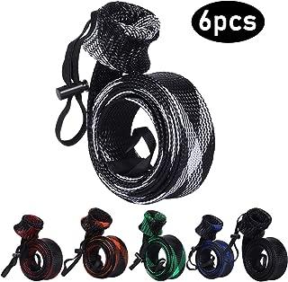 BB Hapeayou Fishing Rod Cover, 6Pcs Fishing Pole protect Sleeve/Sock/Braided Mesh for Fly, Casting, Sea Fishing Rod
