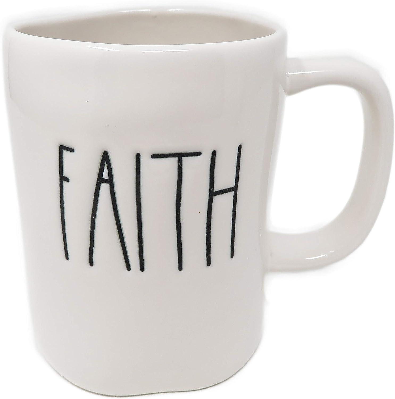 Rae Dunn by Magenta FAITH Coffee Max 48% OFF Mug Tulsa Mall Ceramic LL
