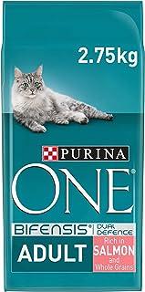 Purina ONE Kattenvoer, Adult kattenbrokken met Zalm; 2,75kg - doos van 4 (4 zakken; 11kg)