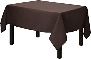 Gee Di Moda Square Tablecloth - 52 x 52 Inch - Chocolate Square Table Cloth for Square or Round Tables in Washable Polyester - Great for Buffet Table, Parties, Holiday Dinner, Wedding & More