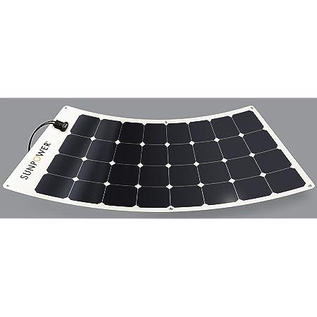 SUNPOWER Portable Solar Panels, Flexible Panel / Monocrystalline Cells / Lightweight/ MC4 Connectors Camping, boats, RV + more (100W)