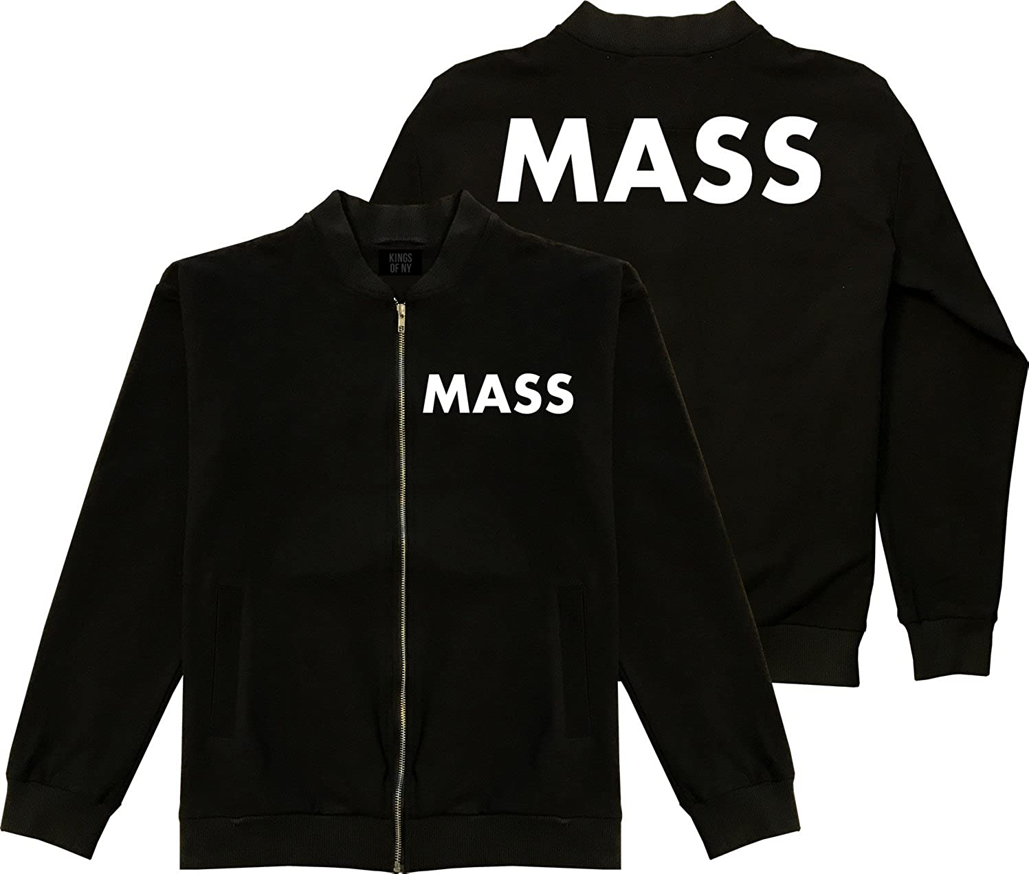 Kings Of NY Massachusetts State 2 Shipping Max 67% OFF included Bomber Sided Black Cotton Jack